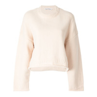 T By Alexander Wang Suéter Cropped Oversized - Marrom