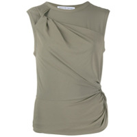 T By Alexander Wang Twisted Crepe Jersey Top - Verde