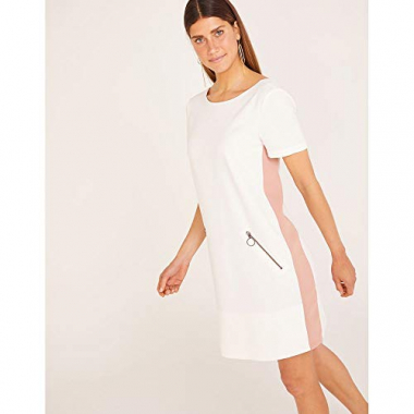 T-Shirt Dress Faixa Lateral-Off White-38