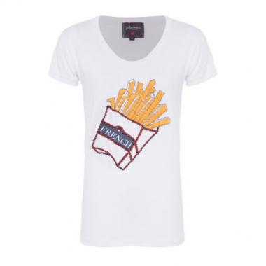 T-Shirt Fries J.chermann - Branco