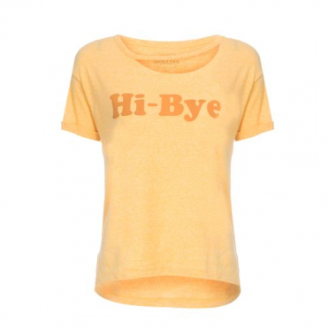 T-Shirt Hi-Bye Shoulder - Amarelo