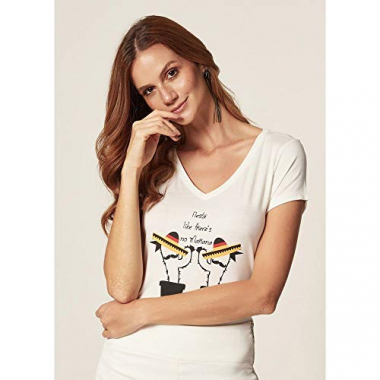 T-Shirt Malha Fiesta Off White - P