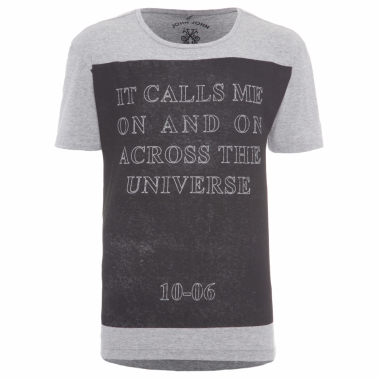 T-Shirt Masculina Across The Universe - Cinza