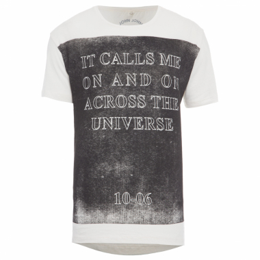 T-Shirt Masculina Across The Universe - Off White