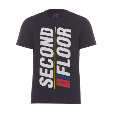 T- Shirt Masculina Co Basic Second Floor - Preto