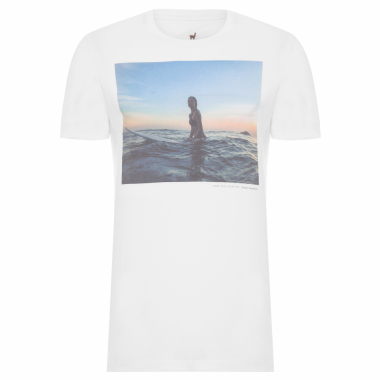 T-Shirt Masculina Dark Seas Clear Sky - Branco