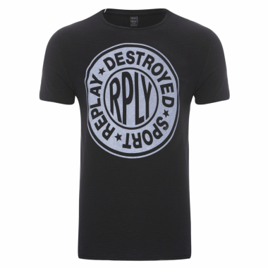 T-Shirt Masculina Destroyed Sport - Preto