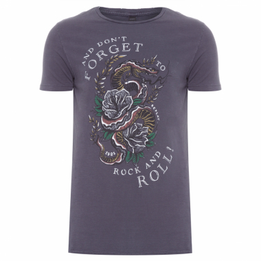 T-Shirt Masculina Don't Forget To Rock - Cinza
