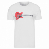 T-shirt Masculina Rough Hollow Guitar - Branco