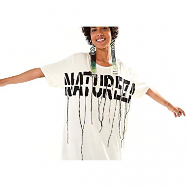 T-Shirt Natureza Bordada Off White - M