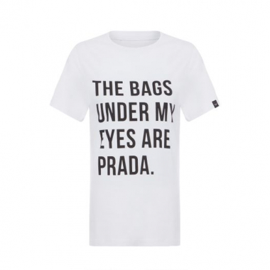 T-Shirt The Bags Under My Eyes T-Shirt Factory - Branco