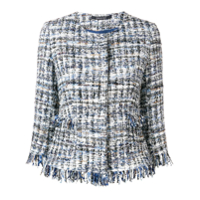 Tagliatore Tweed Embroidered Blazer - Azul