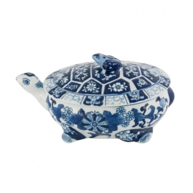Tartaruga De Porcelana Blue And White