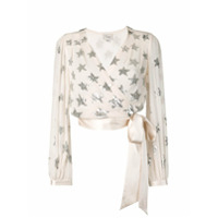 Temperley London Blusa Trespassada Com Paetê 'starlet' - Neutro