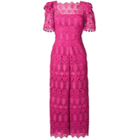 Temperley London Macacão 'amelia' Com Renda - Rosa