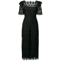 Temperley London Macacão Com Renda - Preto