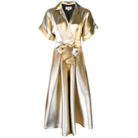 Temperley London Macacão 'liquid Metal' - Dourado
