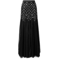 Temperley London Saia Longa 'glide' - Preto