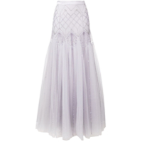 Temperley London Saia Longa 'glide' - Roxo