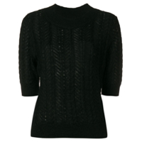 Temperley London Suéter Cropped - Preto