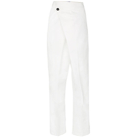 Ten Pieces Wrap High-Waisted Trousers - Branco