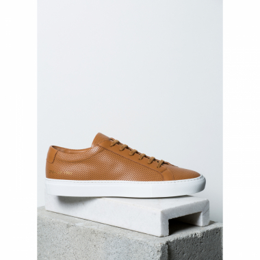 Tênis De Couro Achilles Low Perforated Marrom 43 It