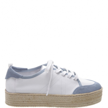 Tênis Flatform Natural White & Blue | Schutz