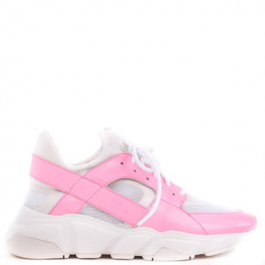 Tênis Fluo Couro Neon Pink 39