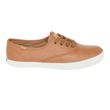 Tênis Keds Champion Wax Leather Tan Feminino-Feminino