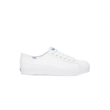 Tênis Triple Kick Leather Keds - Branco