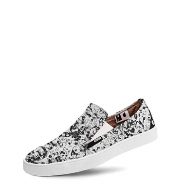 Tênis Usthemp Slip-On Vegano Casual Estampa Sublime Branco 33