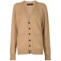 The Elder Statesman Cashmere V-Neck Cardigan - Marrom