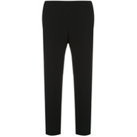 Theory Cropped Slim Fit Trousers - Preto