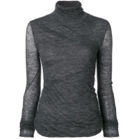 Theory Fitted Roll-Neck Top - Cinza