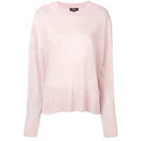 Theory Long-Sleeve Flared Sweater - Rosa