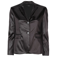 Theory Satin Button Front Blazer - Marrom