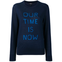 Theory Suéter 'our Time Is Now' - Azul
