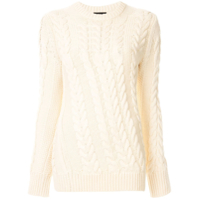 Theory Twist Cable Knit Jumper - Branco