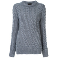 Theory Twist Cable Knit Sweater - Azul
