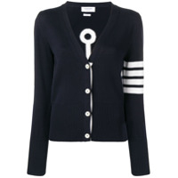 Thom Browne Cardigan Anchor Icon Com Padronagem - Azul