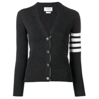 Thom Browne 4-Bar Buttoned Cardigan - Cinza