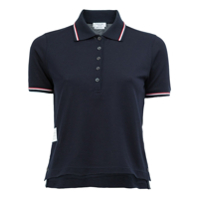 Thom Browne Camisa Polo Cropped - Azul