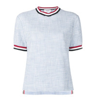 Thom Browne Camiseta De Tweed - Azul