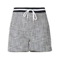 Thom Browne Short De Tweed Texturizado - Azul