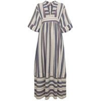 Three Graces Vestido Longo Listrado - Azul