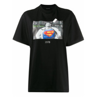 Throwback. Camiseta 'superman' - Preto