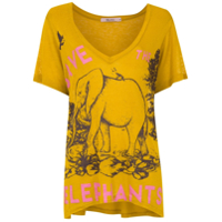 Tig Camiseta 'elephants' Com Estampa - Amarelo