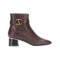 Tod's Ankle Boot De Couro 'double-T' - Marrom
