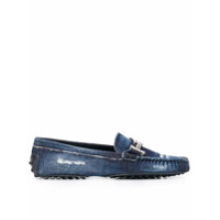 Tod's Mocassim Jeans Gommino Destroyed - Azul