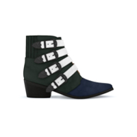 Toga Pulla Ankle Boot De Camurça - Forest Green/navy